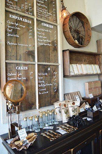 Great sinage idea - dark stained planks behind vintage ...