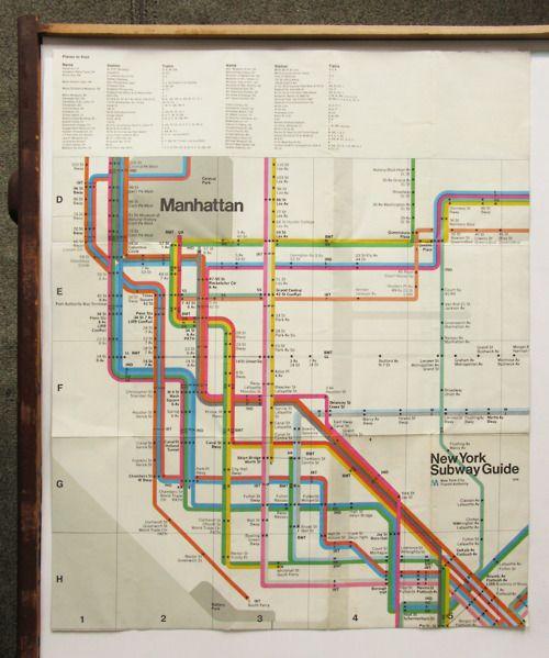 New York City Subway Map Back Designed By Massimo