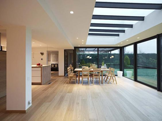 Recently specified for a renovation project was the radiant 'Riesling' floor from #Lalegno. This wonderful natural Oak toned floor certainly brings an air of defiance to this superb space. #Riesling is finished with a durable, brushed and invisible matt lacquer allowing this floor to avail of a high quality resistance while still managing to keep its natural look. Beautiful through every aspect.