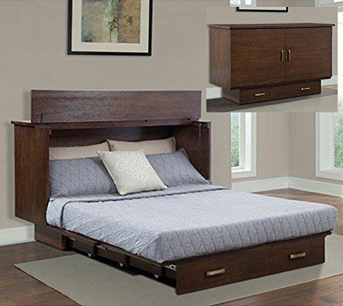 Creden Zzz Queen Cabinet Bed With Flip, Traditional Pekoe Queen Creden Zzz Cabinet Bed