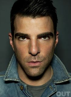 Openly gay Star Trek Heroes star ZACHARY QUINTO talks to OUT magazine and dating Glee star JONATHAN GROFF
