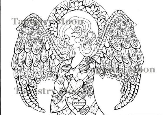 Zen Coloring Pages Pdf : Zentangle doodle adult coloring page instant download