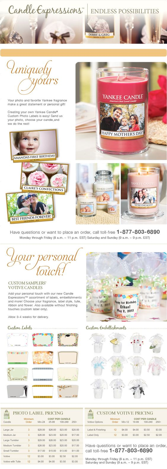 Customer Service | Order Customized Candles | YankeeCandle.com ...