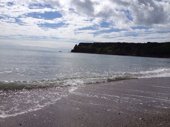 The Headland view from the beach at Lydstep Tenby