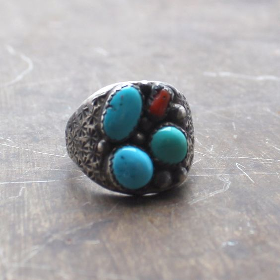 Fire and Water Vintage Ring