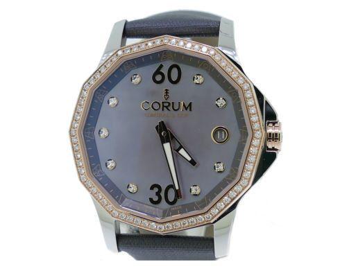 New Ladies Corum Admirals Cup Legend Diamond Watch in 18k/SS 082.101.29.F149Pk10
