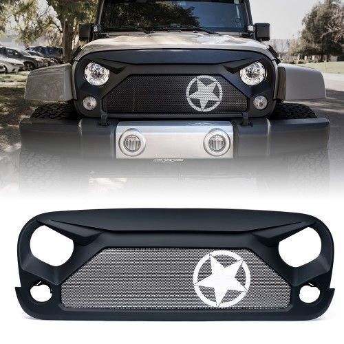 Xprite Gladiator Grille With Star Steel Mesh For 2007 2018 Jeep Wrangler Jk Jeep Wrangler 2017 Jeep Wrangler Custom Jeep