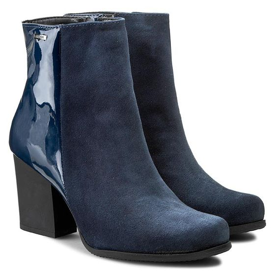 Botki Lasocki 949 01 Granatowy Botki Kozaki I Inne Damskie Boots Shoes Ankle Boot