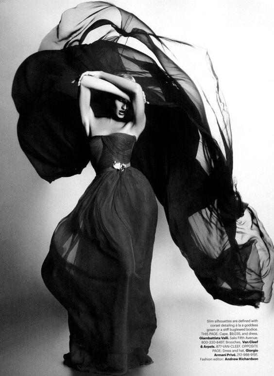 Candice Swanepoel in Giambattista Valli by Lagerfeld for Harper's Bazaar US