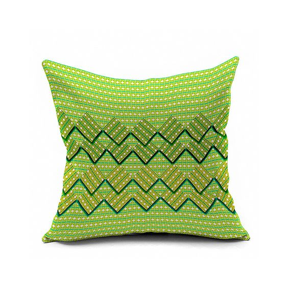 Cotton Flax Pillow Cushion Cover Geometry JH225