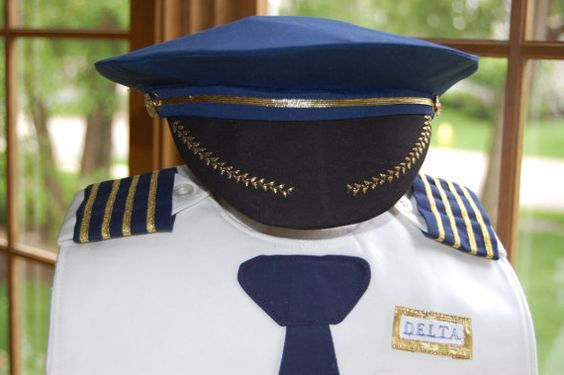 Airline Pilot Hat by CarolynsClassics on Etsy, $15.00