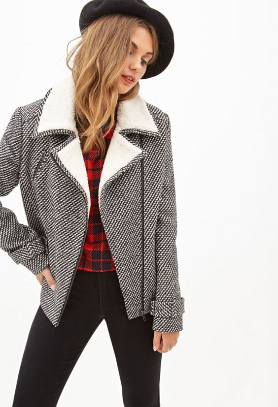 Cool Rider: 20 Biker Jackets to Rev Up Your Winter Style via Brit + Co.
