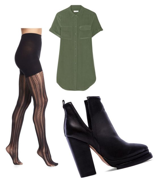 """""""Untitled #547"""" by maria-camila-florez-munoz ❤ liked on Polyvore featuring SPANX, Equipment and Jeffrey Campbell"""
