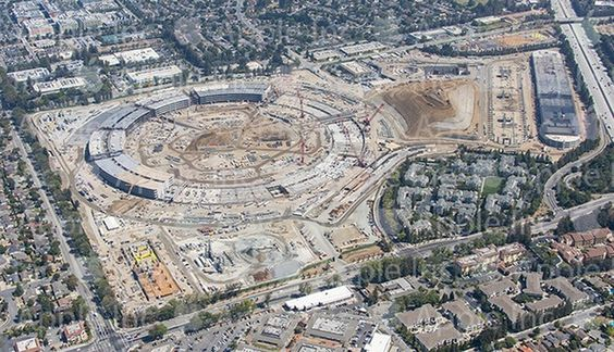 Updated Aerial Photo Shows Construction Progress on Apple Campus 2 - http://iClarified.com/51107 - Apple has shared an updated aerial photo of the construction progress on Apple Campus 2.