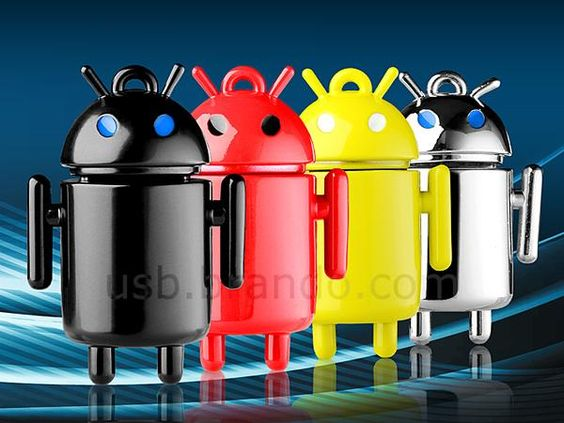 Metallic Android Droid USB Flash Drive