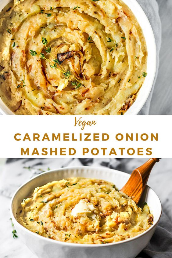 Vegan Caramelized Onion Mashed Potatoes | Short Girl. Tall Order