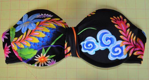 Bra to Bathingsuit DIY | Tasha Delrae...Will be making one...but not into a halter.: Bathing Suits, Diy Bathingsuit, Bathingsuit Top, Bathing Suit Top, Bathingsuit Diy, Old Bra, Sewing Machine