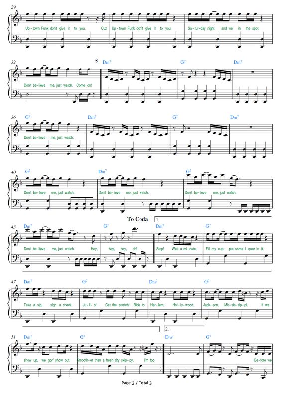 Piano uptown funk piano chords : Pinterest • The world's catalog of ideas