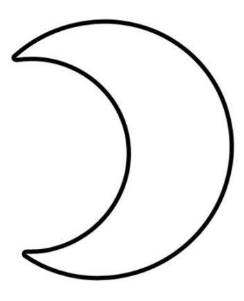 Espaco Educar Desenhos Para Colorir Molde De Lua Lua Desenho
