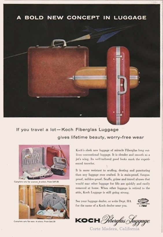 KOCH Luggage factory was located at Lucky Drive and Hwy 101 Corte Madera