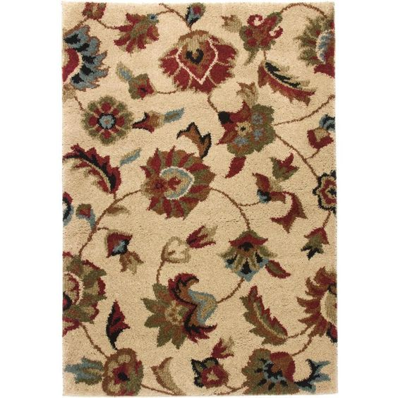 Elegant and timeless, this rug features classic floral designs to give your home a traditional look. Crafted from easily maintained stain-resistant pile, this rug is made of tough polypropylene.