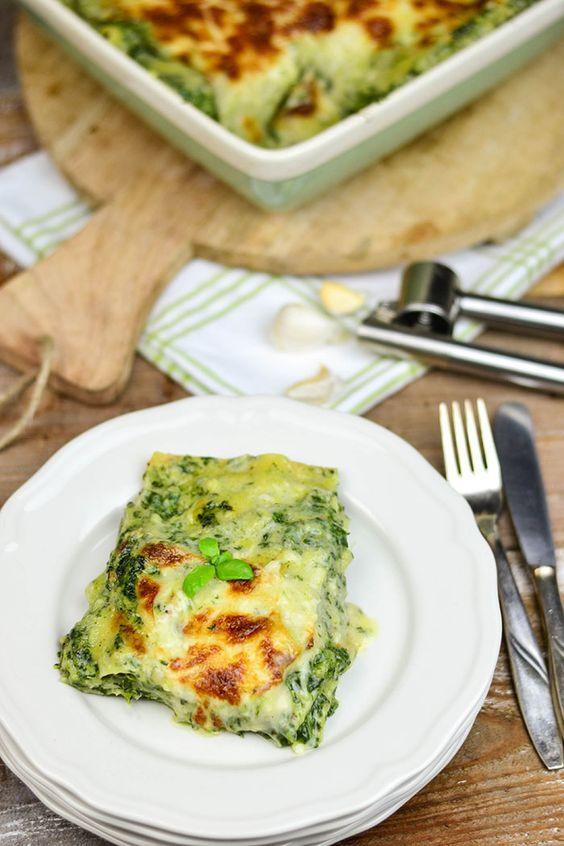 Soul food vegetarisch: Spinat Lasagne mit Gorgonzola | Das Knusperstübchen
