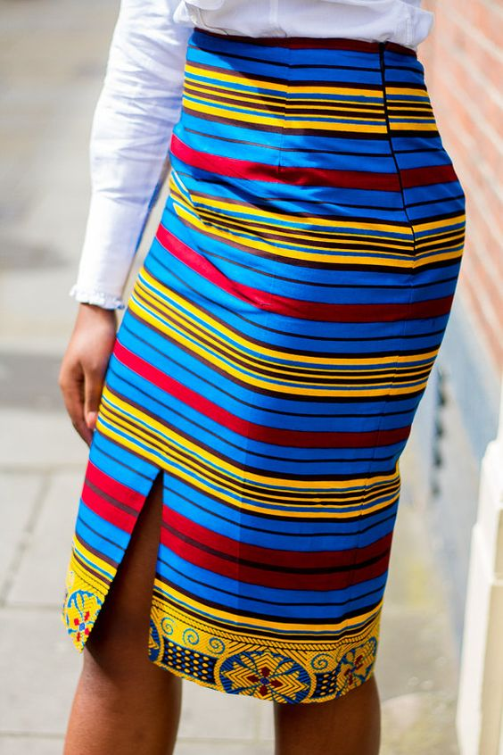 African Clothing African pencil skirt African Print by Laviye: