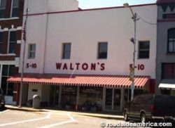 The picture shown here is of the original store opened by Sam Walton in Bentonville, AR    This is about Wal-Mart, which at this writing is America's...