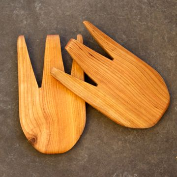 hardwood salad tongs