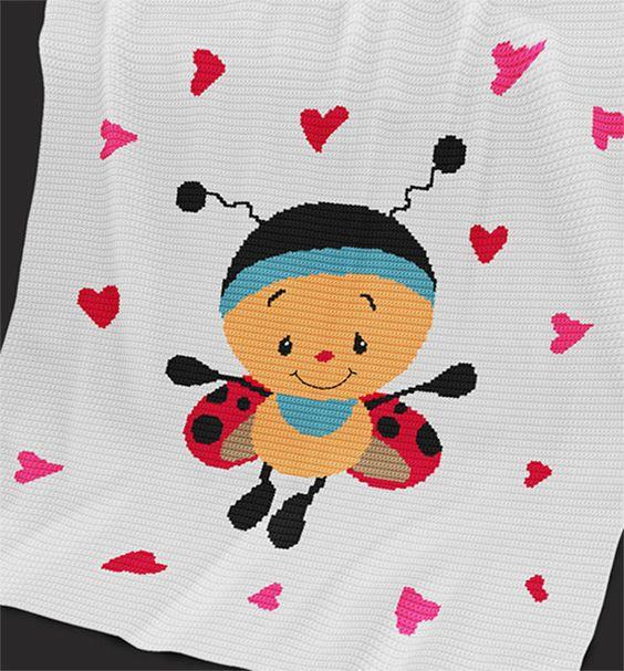 CROCHET Pattern - Baby Blanket Pattern - Cutie - Crochet Graph ...