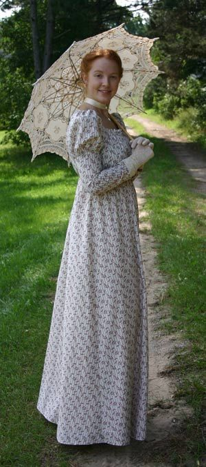 Regency Calico Gown