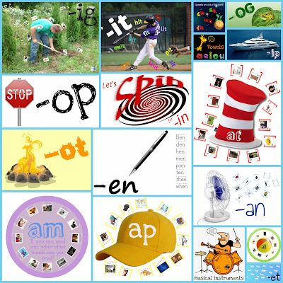 Interactive Presentations for CVC Word Families, Digraphs, and Vowels