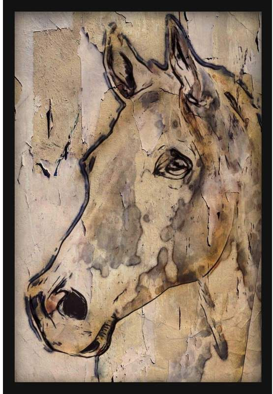 Marmont Hill Winner Horse By Watercolor Painting Print On Wrapped Canvas Horse Wall Art Canvases Horse Painting Abstract Horse Painting