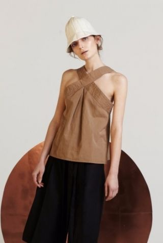 Gabriela Alexandrova Criss cross silk top