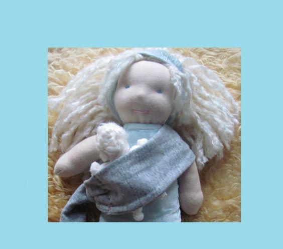 Babywearing Nursing Mama and Baby Waldorf Doll by AlanaPrana, $80.00