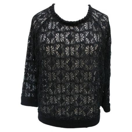 #isabelmarant black lace sweater  #vestiairecollective