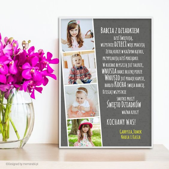 Klisza Szara Zdjecia Plakat Dla Babci I Dziadka Frame Book Cover Flowers