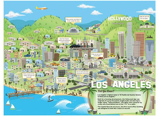 Printable Los Angeles Travel Map for kids – Los Angeles Map Tourist