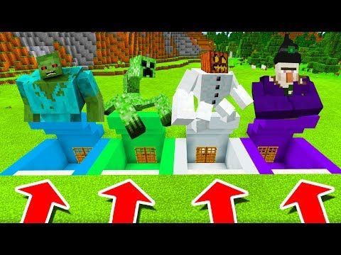 Minecraft Pe Do Not Choose The Wrong Secret Base Mutant Zombie Mutant Creeper Witch More Youtube Mutant Minecraft Creepers