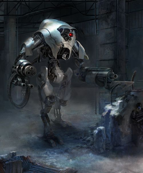 scifi-fantasy-horror:  SF robot concept (2011) by Jy-Kim