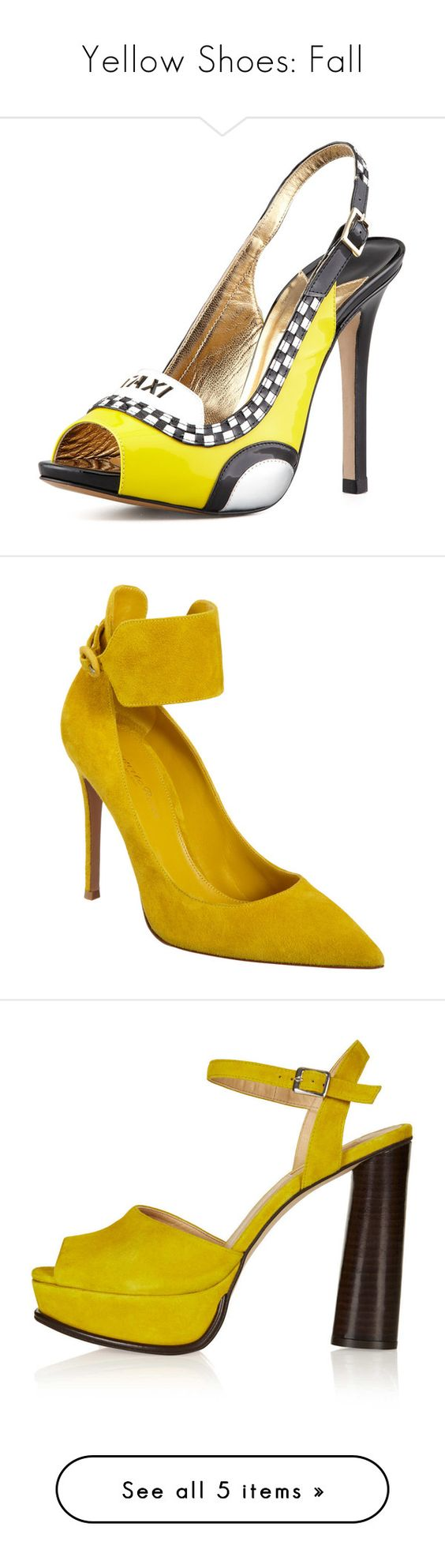 """Yellow Shoes: Fall"" by mathilda-moo ❤ liked on Polyvore featuring J.Crew, Prada, Comme des Garçons, Maje, Grey Ant, Karen Millen, Jason, Thierry, Masion and shoes"
