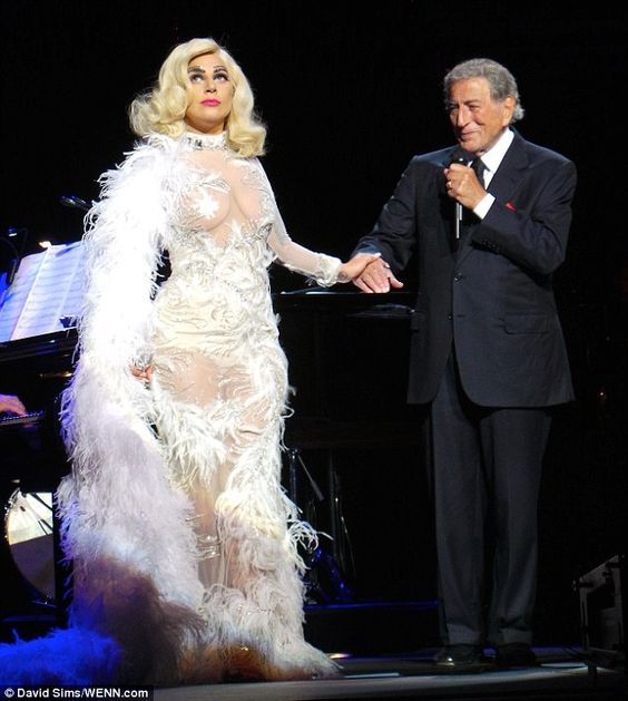 Teaming up: Gaga is currently on her Cheek To Cheek tour with Tony Bennett, and they performed in London last week (pictured) before travelling to the Bahamas