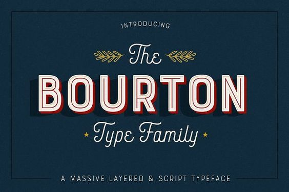 Bourton • 34 Fonts • 75% Off by Kimmy Design on @creativemarket