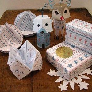 Love this free printable for christmas; BL-ij-kerstpakket-op-tafel