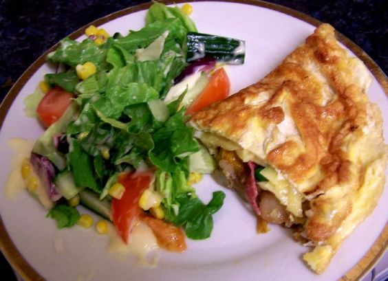 Mix and Match Frittata with Jumble-Tumble Salad, Honey and Mustard ...