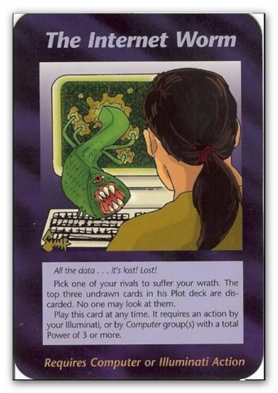 Illuminati Card The Internet Worm