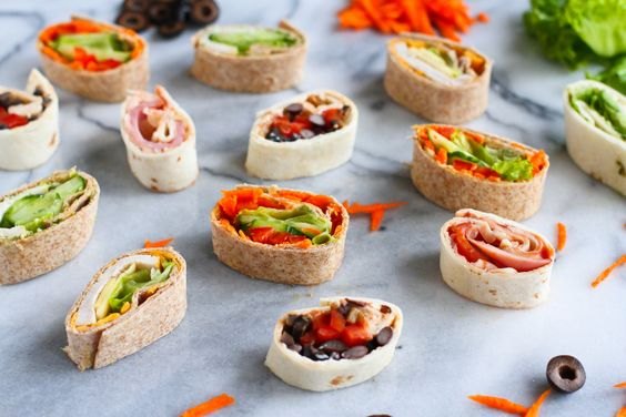 Schnelles Rezept: Fingerfood Partyfood oder für die Lunchbox.  *** 5 Pinwheel Sandwiches Lunch Box