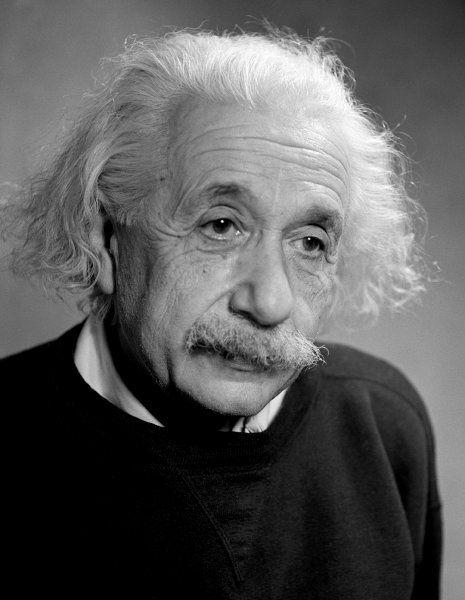 Albert Einstein in 1946 photo by Fred Stein