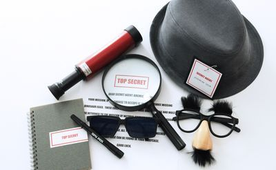 detective party birthdays and spy gear on pinterest. Black Bedroom Furniture Sets. Home Design Ideas