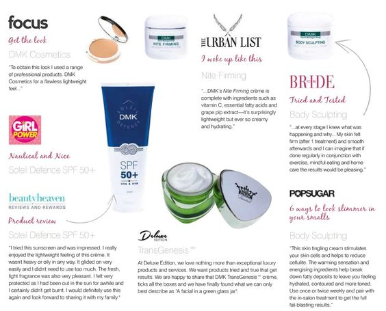 """From """"6 ways to look slimmer"""" with our Body Sculpting Creme.. to having """"a facial in a glass green jar"""" with TransGenesis"""